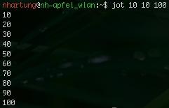 """osx jot - """"seq"""" unter Mac OSX - """"jot"""""""