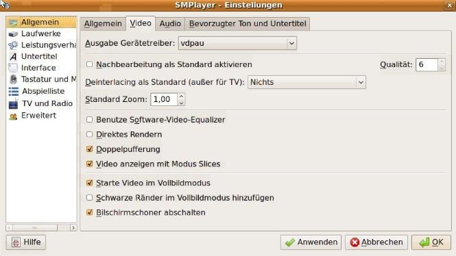 ubuntu vdpau 1 - Ubuntu - NVIDIA VDPAU + SMplayer