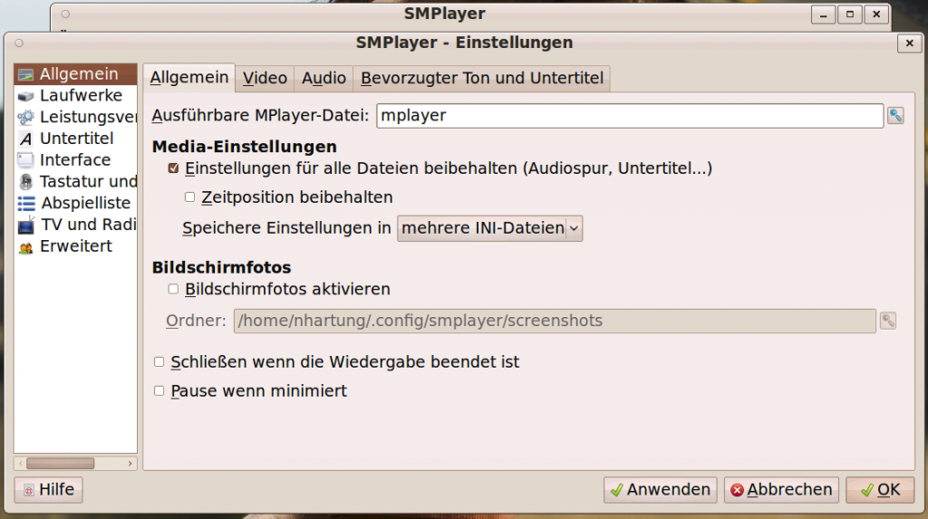 Linux SMPlayer VAAPI Settings #1