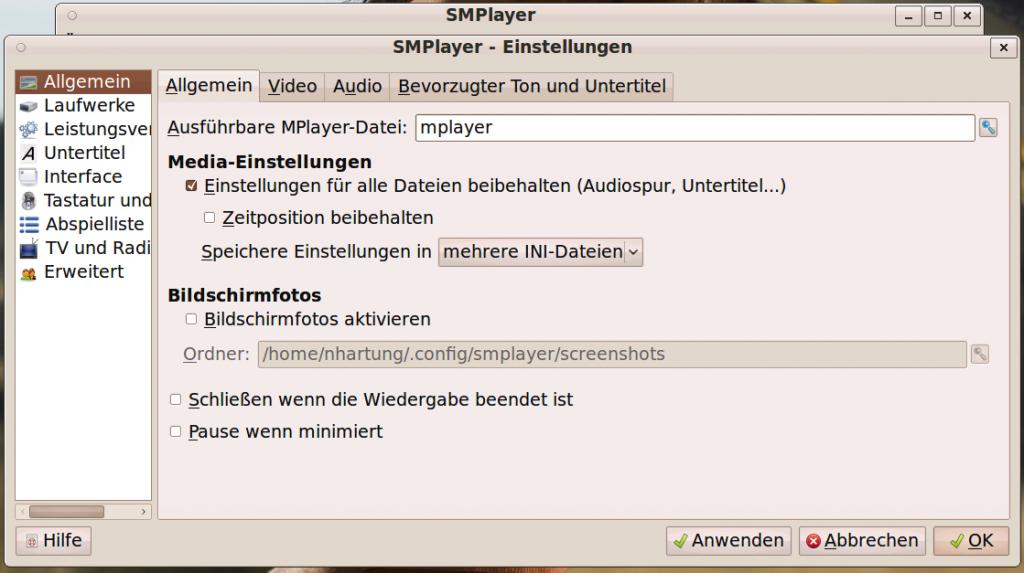 Linux SMPlayer VAAPI Settings #1