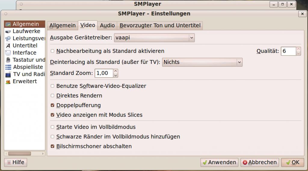 Linux SMPlayer VAAPI Settings #2