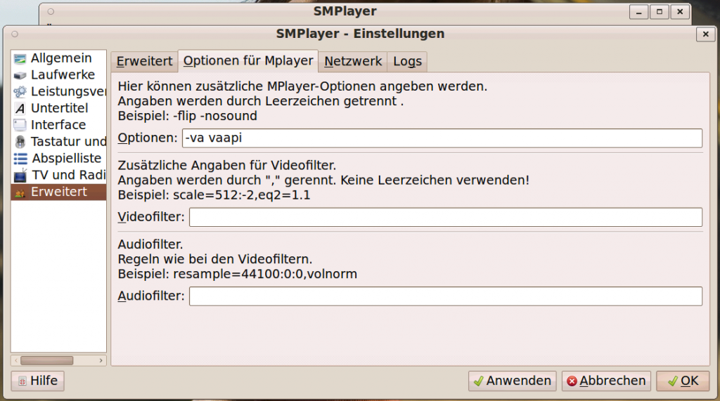 Linux SMPlayer VAAPI Settings #4