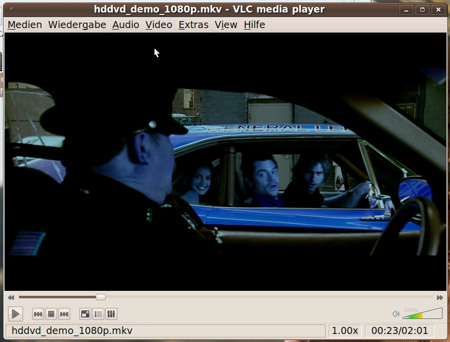 Linux VLC VAAPI Blue