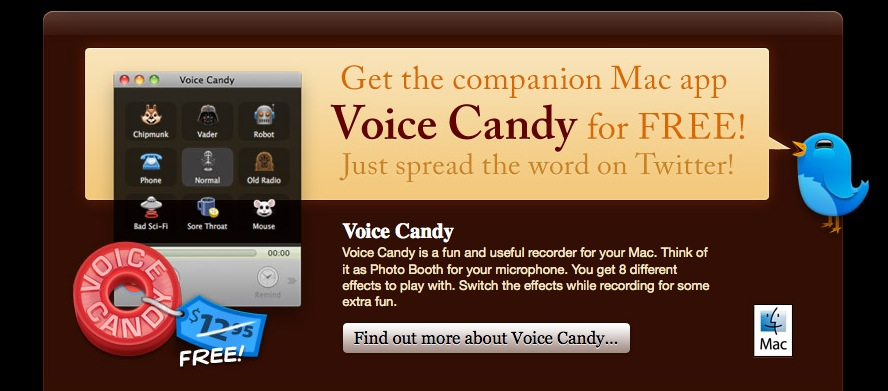 OSX MacHeist - Voice Candy