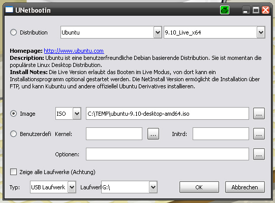 Software UNetbootin #1