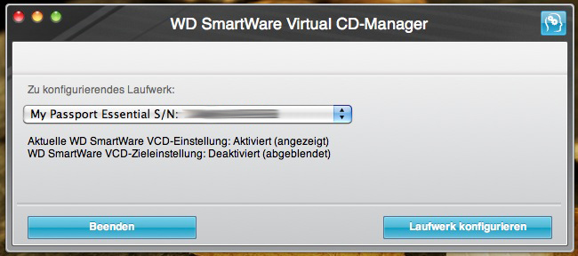osx wd vcd manager - WD My Passport Essential - Virtuelles CD/DVD Laufwerk