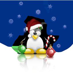 Linux-Maskottchen Christmas Tux