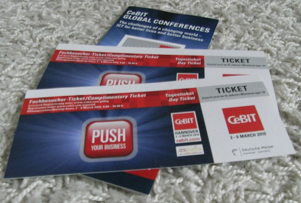 privat cebit 2010 - Deutsche Messe AG - CeBIT 2010 - kostenlose Tickets
