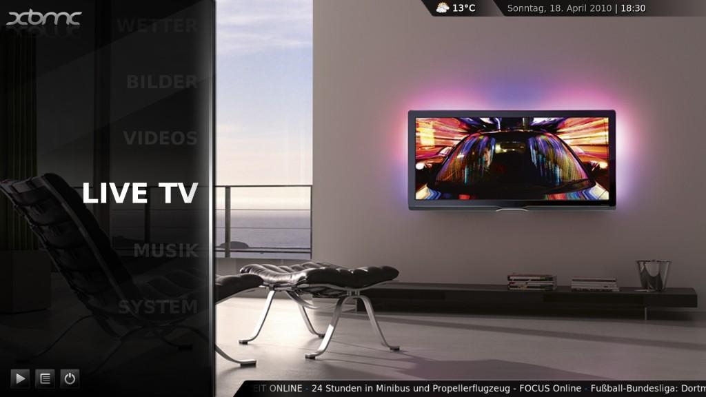 xbmc live tv 1024x576 - Ubuntu 10.04 - XBMC (pvr-testing2) mit VDR VNSI-Plugin und VDPAU Unterstützung