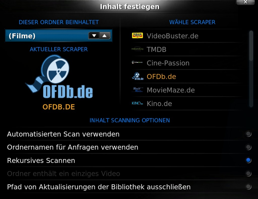 XBMC All-in-One - Scraper Filme