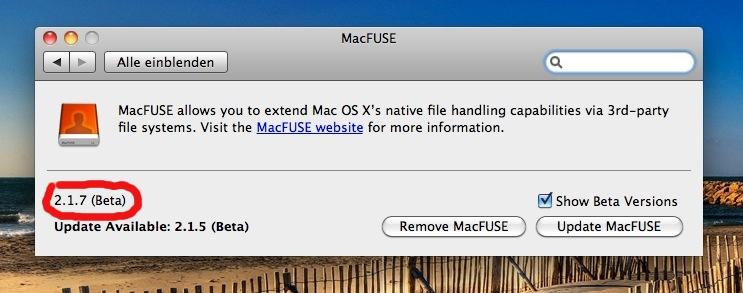 apple osx macfuse 217 - OSX - NTFS - TrueCrypt - MacFUSE & Lion / Snow Leopard 64-Bit Kernel