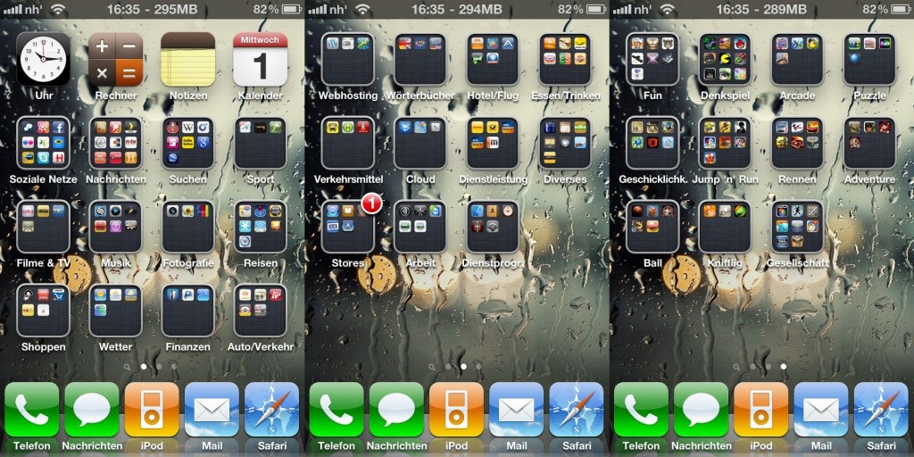 iPhone 4 - Homescreen