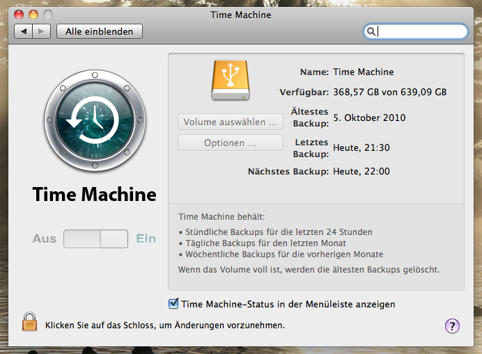 Apple OS X - Time Machine