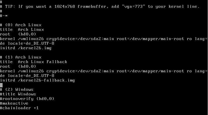 arch lvm 05 - Arch Linux - Installation mit verschlüsseltem LVM