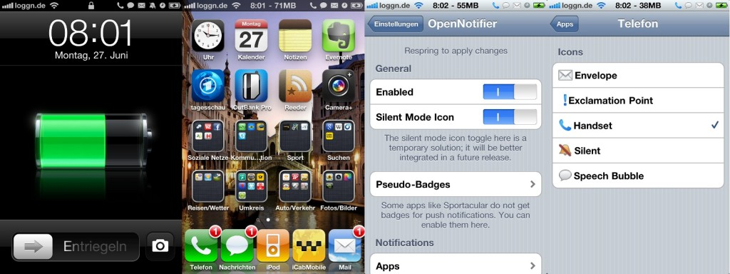 iPhone - Cydia - OpenNotifier