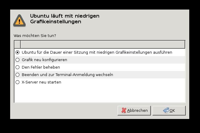 Ubuntu läuft mit niedrigen Grafikeinstellungen - i915.modeset=1