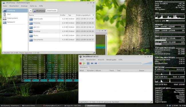 archlinux openbox 650x373 - Linux - Sicherheit - startx - CTRL+C, CTRL+ALT+BACKSPACE und SysRQ