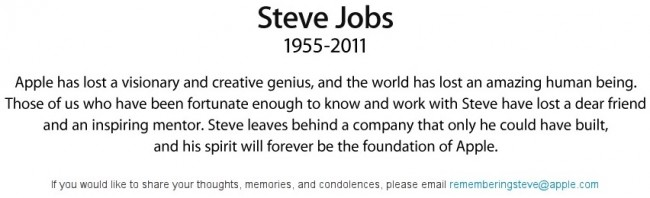 steve jobs 650x198 - Apple - Steve Jobs - 1955 - 2011