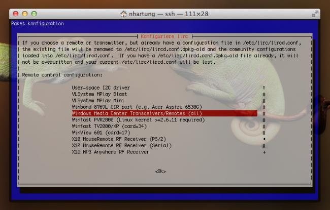 linux htpc lirc mce 01 650x415 - Ubuntu (alle Versionen) – LIRC Konfiguration mit MCE RC6 IR605Q (147a:e03e) und Logitech Harmony