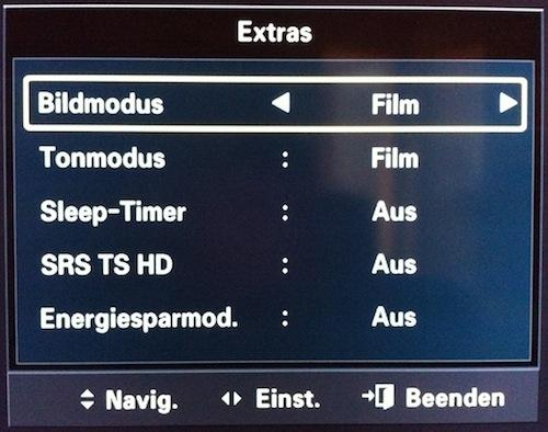LCD Fernseher - Samsung - extrem dunkel - dunkles Bild - Energiesparmodus