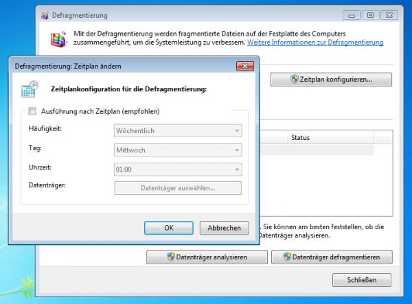 Windows - SSD - Defragmentierung deaktivieren