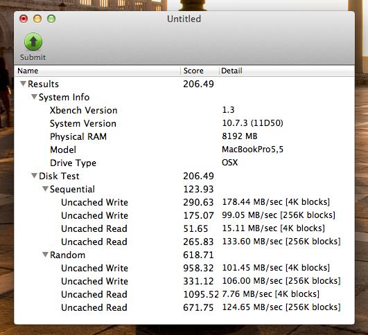 Xbench - SSD - Crucial m4 - vor Trim