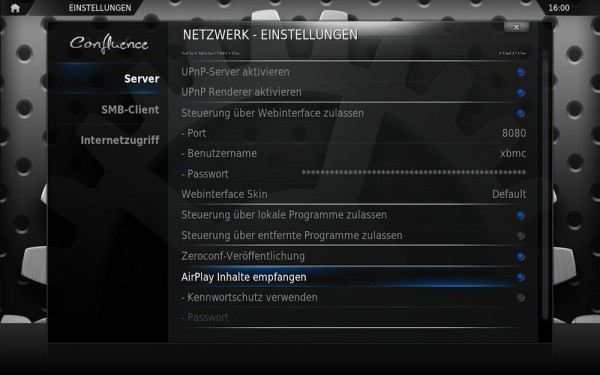 XBMC Eden - AirPlay aktivieren
