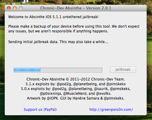 ios untethered jailbreak 5 1 1 - Greenpois0n Absinthe 2.0.1 – untethered Jailbreak iOS 5.1.1