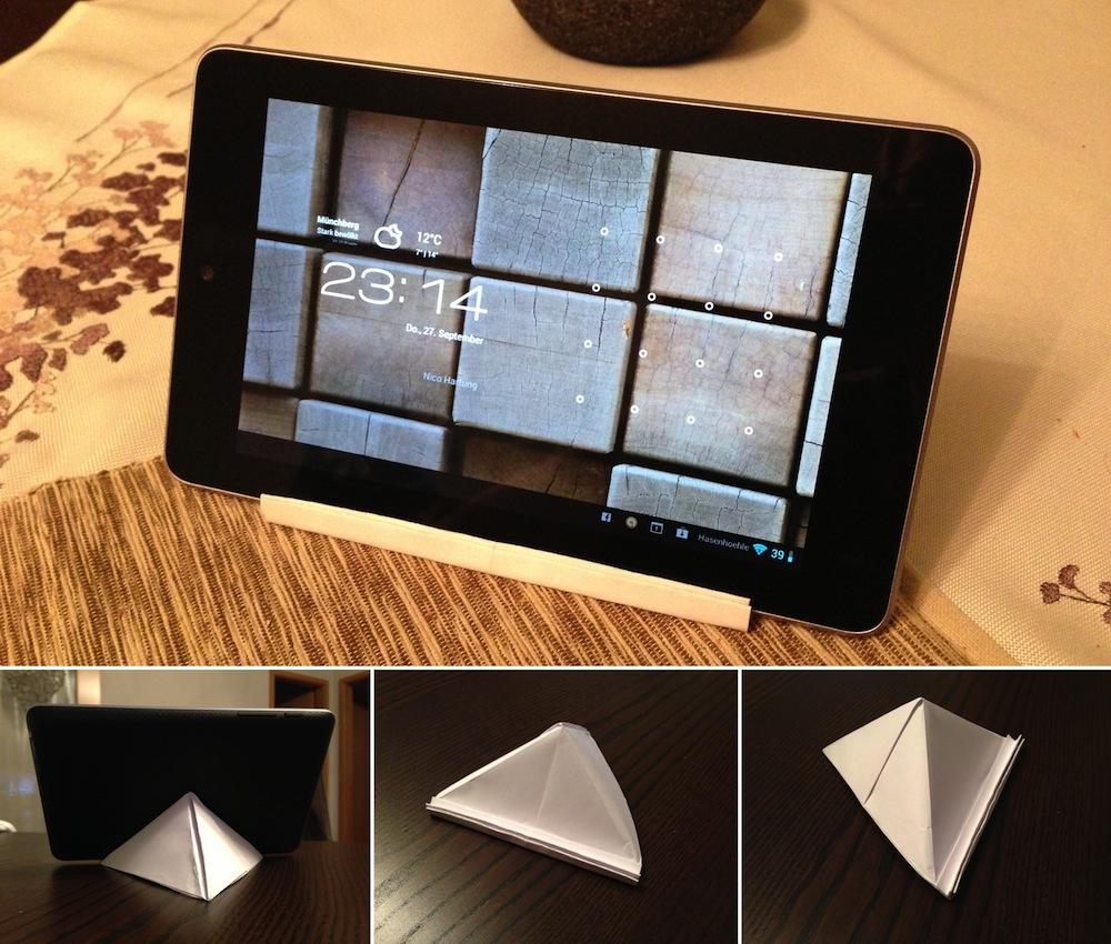 anleitung kostenlose halterung f r 7 zoll tablets beispiel nexus 7. Black Bedroom Furniture Sets. Home Design Ideas