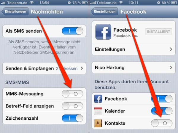 iOS6 Bug – MMS Facebook Verknüpfung – Workaround