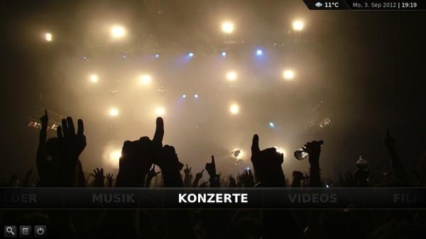 XBMC Skins - Confluence MOD - Konzerte