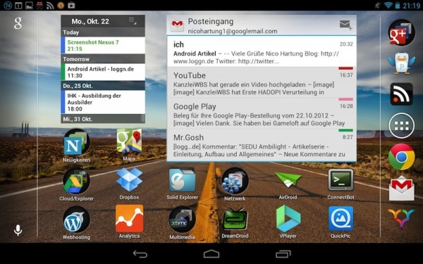 Android Nexus 7 - Screenshot
