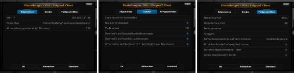 XBMC - PVR - VU+ / Enigma2 Client Plugin