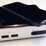 Intel NUC im Größenvergleich mit iPhone 5