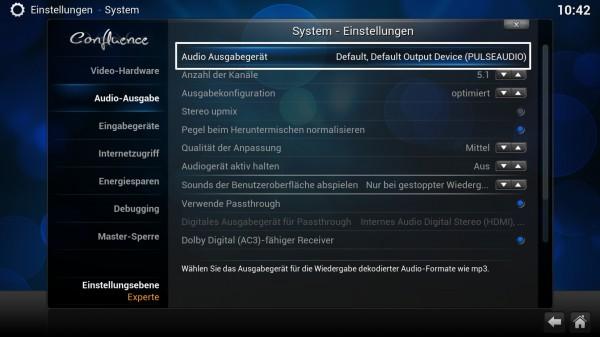 xbmc 13 audio settings 01 600x337 - Projekt Media-PC – XBMC - Installation und Konfiguration