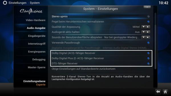 xbmc 13 audio settings 02 600x337 - Projekt Media-PC – XBMC - Installation und Konfiguration