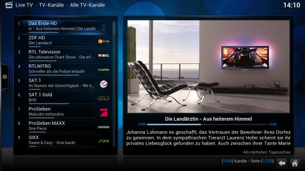 xbmc live tv senderlogos 600x337 - Projekt Media-PC - XBMC & VDR - Live-TV über VNSI konfigurieren