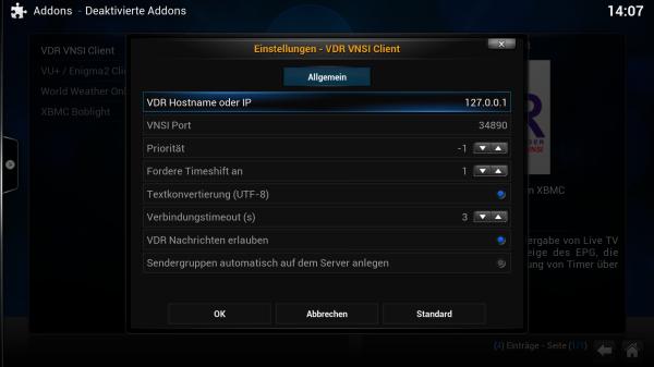 xbmc vdr vnsi config 02 600x337 - Projekt Media-PC - XBMC & VDR - Live-TV über VNSI konfigurieren