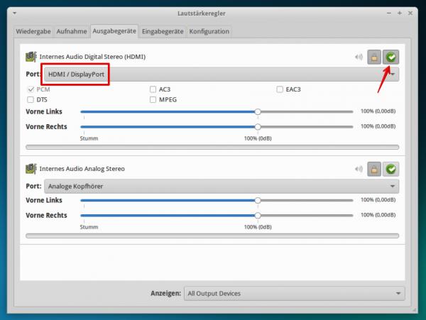 xfce audio settings 600x451 - Projekt Media-PC - Xubuntu - Konfiguration