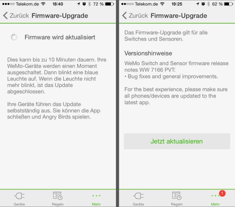 Belkin WeMo-App - Firmware-Update