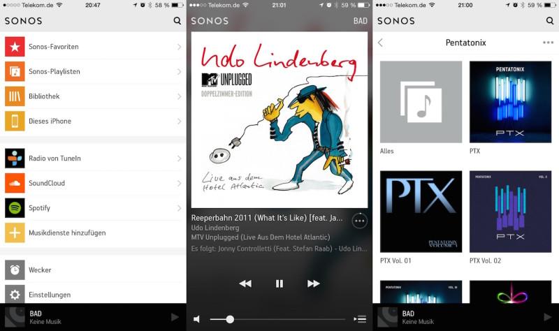 Sonos App - Musik und Cover