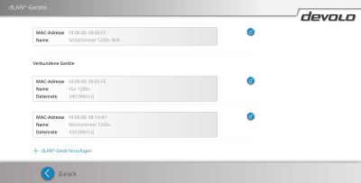 devolo webinterface 1200 wifi ac dlan info 400x203 - Erfahrungsbericht – Devolo dLAN 1200+ WiFi ac – PowerLAN mit WLAN