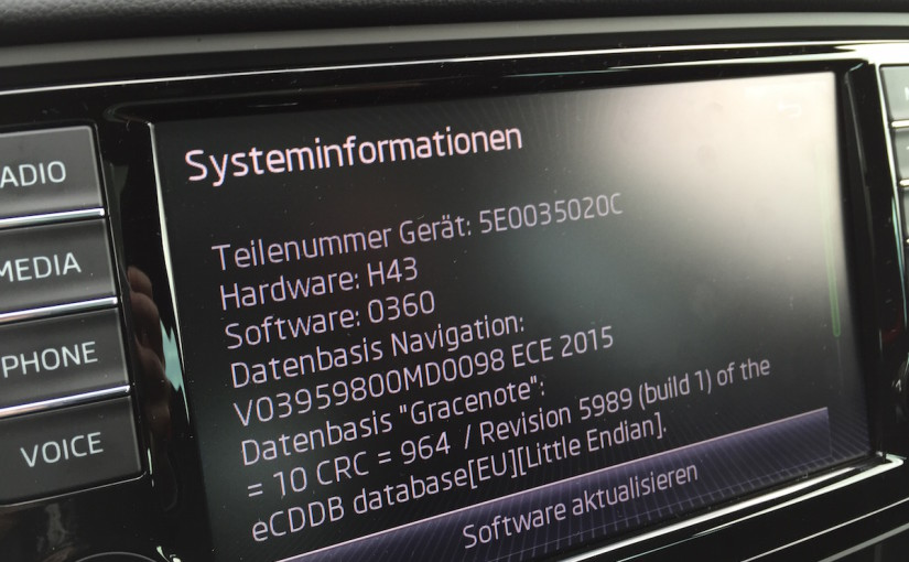 columbus 2 systeminformationen 825x510 - Skoda Columbus II – Media – Welche SD-Karte? Welches Dateisystem?