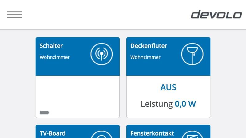 my devolo iOS-App - Home Control Übersicht