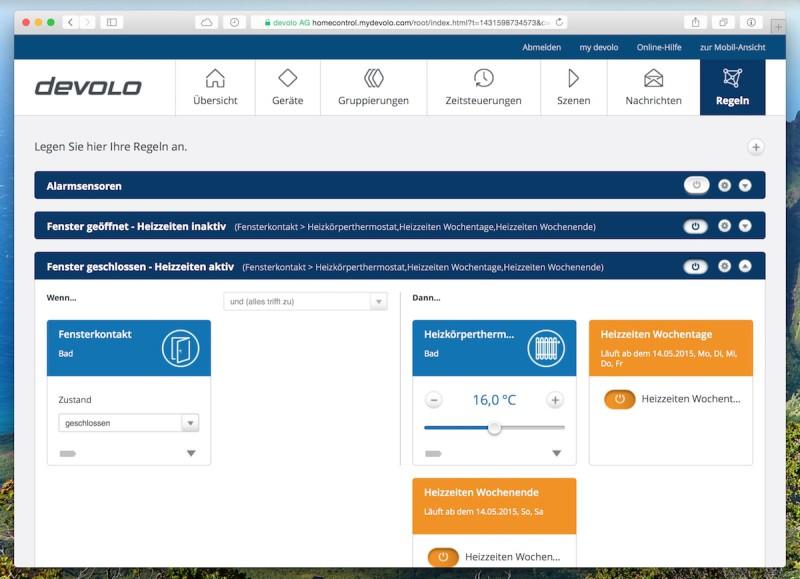 Devolo intelligentes Thermostat Regel1 800x579 - Erfahrungsbericht – Devolo Home Control - Fensterkontakt und Heizkörperthermostat