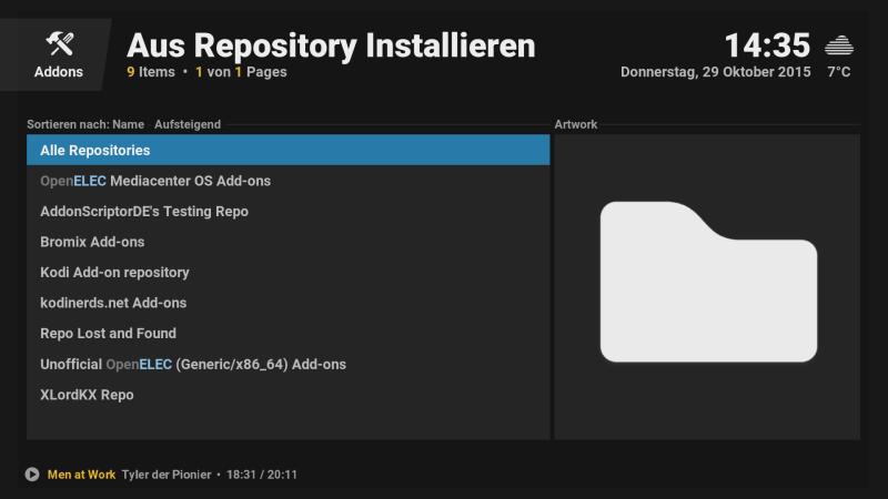 OpenELEC - Kodi - Repositorys / Addons