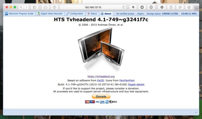 OpenELEC - Kodi - HTS TVheadend