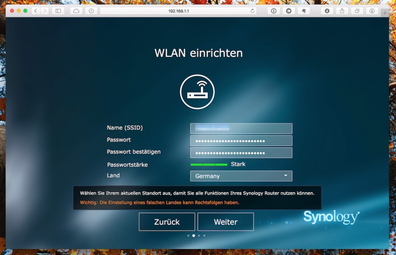 Synology RT1900ac - First Steps WLAN
