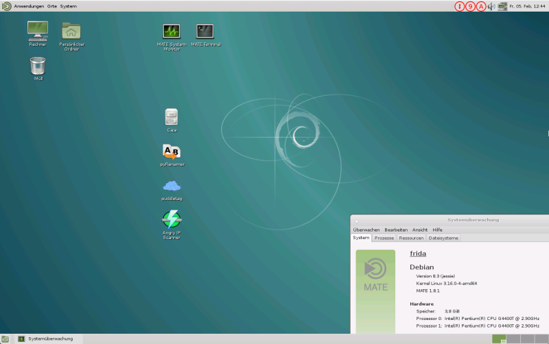 Debian 8 mit Desktopumgebung MATE 800x502 - DIY NAS - Gründe, Hardware, Grundinstallation und Stromverbrauch