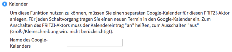 "AVM FRITZ!DECT 200 - Automatische Schaltung ""Kalender"""